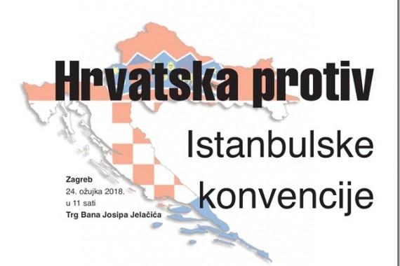 """PODRŽIMO PROSVJED """"HRVATSKA PROTIV ISTAMBULSKE KONVENCIJE"""""""